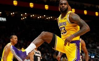"""""""Lakers"""" dramatiškai išsigelbėjo Atlantoje, """"Pelicans"""" nesėkmių ruožas – juodžiausias istorijoje"""