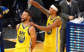 Karjeros mačą sužaidęs S.Curry bei T.Harrisas - antrosios NBA savaitės MVP