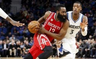 """NBA: nutrūkusi """"Rockets pergalių serija, """"Blazers"""" sutriuškino čempionus (rezultatai)"""