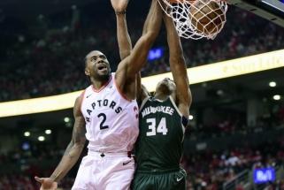 """Iki finalo - tik du žingsniai: Toronte triumfavę """"Raptors"""" išlygino serijos rezultatą"""