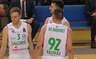 """E.Ulanovo vedamas """"Žalgiris"""" sutriuškino """"Dzūkiją"""" ir tapo pirmuoju pusfinalio dalyviu"""