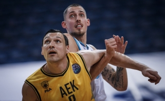 """Mačiulis buvo vienas AEK vedlių į pirmąją pergalę Čempionų lygos """"Top 16"""" etape"""