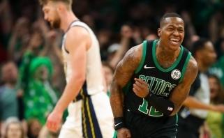"""Blogiausią kėlinį klubo atkrintamųjų istorijoje sužaidę """"Pacers"""" beviltiškai krito Bostone"""