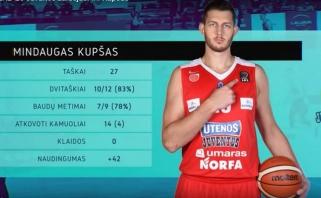Karjeros mačą sužaidęs M.Kupšas - savaitės MVP