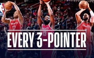 """Čempionai krito Jutoje, """"Rockets"""" snaiperiai pasiekė naują NBA rekordą"""