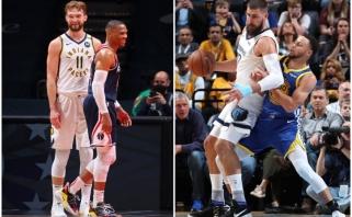 """NBA finišas: Valančiūno laukia kautynės su Curry, Sabonio – sunkios """"Play in"""" kapotynės (Sirvydžiui ir Brazdeikiui – atostogos)"""