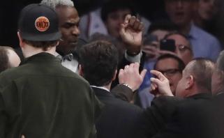 M.Kuzminsko akivaizdoje - chaosas tribūnoje ir NBA garsenybės areštas