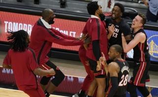 """""""Heat"""" šokiravo """"Nets"""" – paskutiniu metimu išplėšė pergalę Majamyje (rezultatai)"""