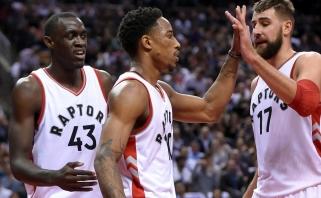 Po sužvėrėjimo išgirtas J.Valančiūnas su D.DeRozanu pateko į NBA istoriją