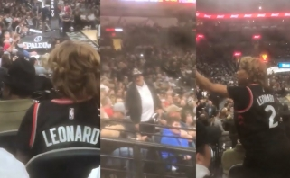 """K.Leonardo mama susipliekė su """"Spurs"""" gerbėju"""