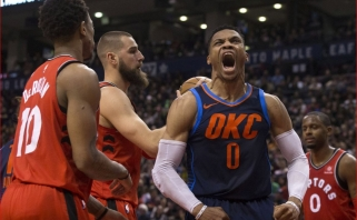 """Emocionalų """"Raptors"""" mačą vainikavo trys diskvalifikacijos paskutinę minutę"""