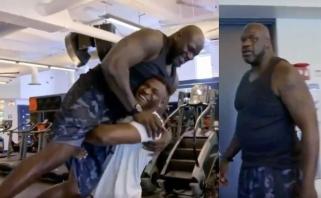 Nuotaikingas video: UFC žvaigždė pakėlė Sh.O'Nealą