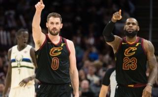 """NBA: """"Pacers"""" pergalė, dar vieno """"Warriors"""" lyderio trauma, 290 taškų Majamyje ir kita"""