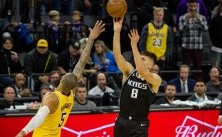 """Hardenas pakartojo karjeros rekordą, fantastiškas Bogdanovičiaus tritaškis paskandino """"Lakers"""""""