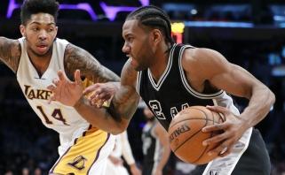 """NBA: Los Andžele - lengva """"Spurs"""" pergalė, """"Bucks"""" palaužė """"Suns"""""""