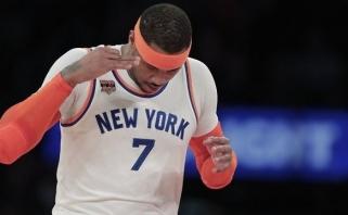 """M. Kuzminskas žaidė naudingai, o """"Knicks"""" sirgaliai nušvilpė C. Anthony"""