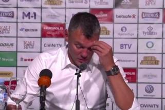 """Š.Jasikevičius patvirtino: """"Žalgirio"""" kapitonas P.Jankūnas patyrė traumą (video)"""