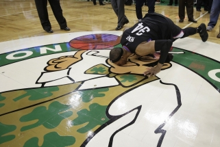 P.Pierce'as labai emocionaliai atsisveikino su Bostono arena