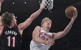"""M. Kuzminskas taikliais metimais svariai prisidėjo prie """"Knicks"""" pergalės"""
