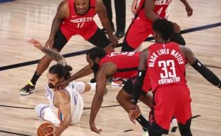 """Rekordinį tritaškių kiekį metę """"Rockets"""" ir įtūžę """"Bucks"""" šventė pergales"""
