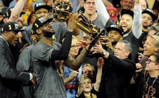 """L.Jamesas atvedė """"Cavaliers"""" į NBA čempionų sostą!"""