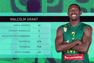 """LKL savaitės MVP - į pirmą pergalę """"Nevėžį"""" atvedęs M.Grantas"""