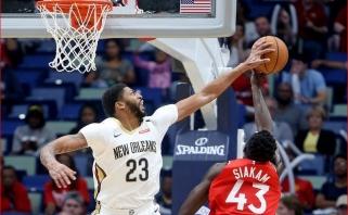 """""""Raptors"""" pasiruošimą sezonui užbaigė pergale Naujajame Orleane (rezultatai)"""
