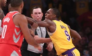 """""""Lakers"""" akiratyje - keturi strategai, R.Rondo paliks komandą, jei trenerio nebus iki rinkos pradžios"""