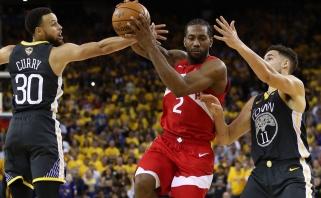"""Per žingsnį nuo titulo: Ouklande triumfavę """"Raptors"""" iškovojo trečiąją pergalę NBA finale"""