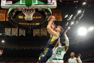 """Dviženklį pranašumą išbarstę """"Pacers"""" ir Sabonis dar kartą krito Bostone"""