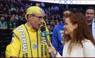 """Geriausias žalgirietis moterų pagalbininkas ir senas pažįstamas """"Maccabi"""" fanas"""