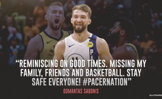 D.Sabonis prisiminė įspūdingą savaitgalį Čikagoje: trūksta šeimos, draugų ir krepšinio