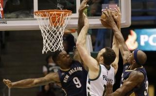 """""""Pelikanai"""" iš Naujojo Orleano pagaliau šventė pirmą pergalę NBA lygoje (rezultatai)"""