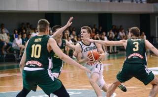 Devyniolikmečiai įveikė metais vyresnius Lietuvos krepšininkus (papildyta)