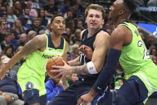 """""""Timberwolves"""" pristabdė L.Dončičių, bet """"Mavericks"""" turėjo kitų kozirių (rezultatai)"""