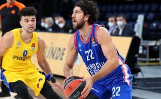 """Išretėjusios sudėties """"Anadolu Efes"""" laimėjo trilerį prieš """"Maccabi"""""""