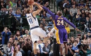 D.Nowitzki: per mano 20 metų NBA Kobe buvo geriausias atakuojantis ir apskritai geriausias žaidėjas