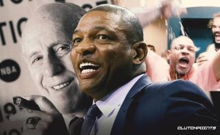 """Clippers"" strategas aplenkė legendinį R.Auerbachą (sveikinimo rūbinėje video)"