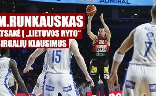 """M.Runkauskas: apie žvejybą, tritaškių rekordą ir mačą prieš """"Neptūną"""" (video)"""