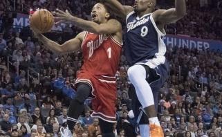 """""""Bulls"""" išsivežė sudėtingą pergalę iš Oklahomos"""