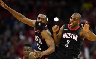"""Vakarų konferencija: sunkūs """"Rockets"""" ir """"Thunder"""" startai (video)"""