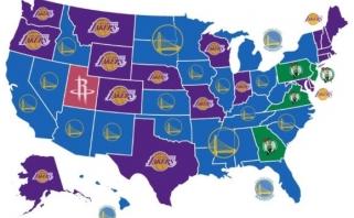 Sudarytas nekenčiamiausių NBA komandų žemėlapis