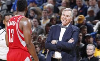 """Įvyko """"Rockets"""" ir trenerio M.D'Antoni pokalbis dėl kontrakto pratęsimo"""