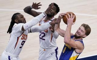 """Rekordą pakartojęs Sabonis padarė tai, ko nėra pavykę nė vienam """"Pacers"""" žaidėjui"""