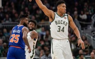 """Istorinis G.Antetokounmpo pasirodymas padėjo """"Bucks"""" susidoroti su """"Knicks"""" (rezultatai)"""
