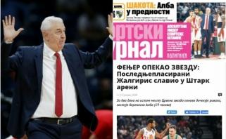 """Po """"Žalgirio"""" pergalės – serbų spaudos apmaudas: pralaimėta autsaideriams"""