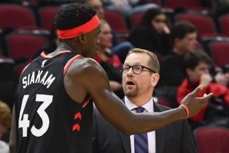 """""""Raptors"""" treneris nesupranta, kodėl P.Siakamas taip prarado ritmą"""