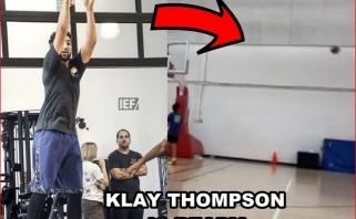 """""""Warriors"""" žvaigždė Thompsonas sveiksta greičiau – dalyvaus treniruočių stovykloje"""