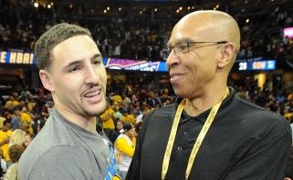"""K.Thompsono tėvas: juokavau sakydamas, kad """"Lakers"""" reikia pripažinti čempionais"""