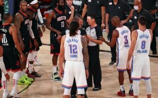"""Kovoje iki paskutinės sekundės """"Rockets"""" užbaigė """"Thunder"""" sezoną"""